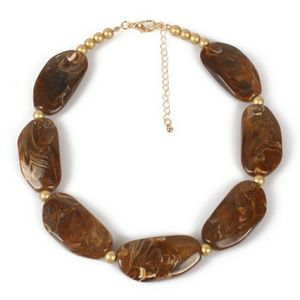 Brown Acrylic Necklace only